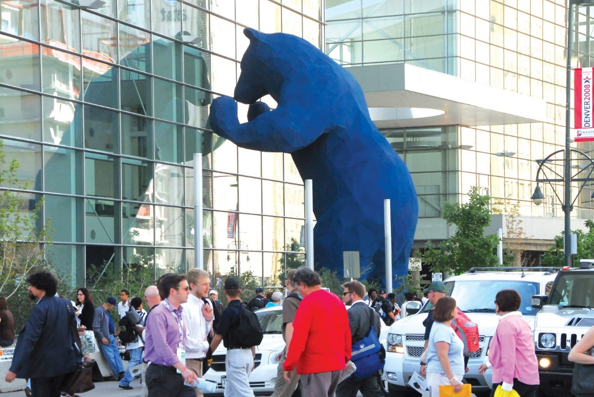 Luxe Bible's 7 Must-Do's in Denver: Denver Blue Bear at the Colorado Covention Center (Photo credit -VISIT DENVER)