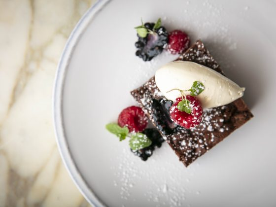 The November Luxe List: Vegan & Vegetarian Menus at 100 Wardour Street - Pecan Brownie with Coconut Cream