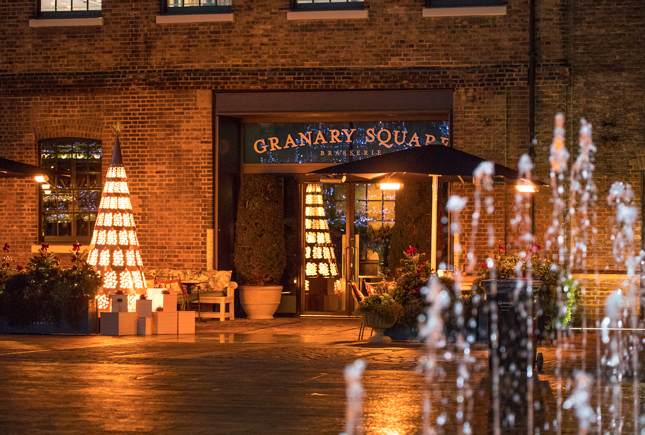 3 Christmas Trees to See in London: Granary Square Brasserie