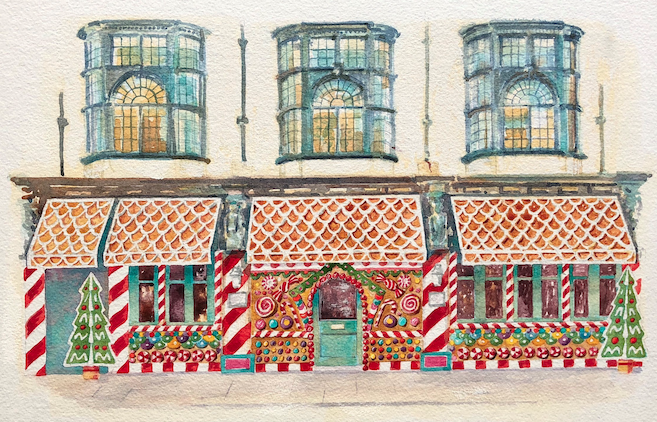 8 Ideas to Get You Feeling Festive in London: Gingerbread House at Ivy Chelsea Garden