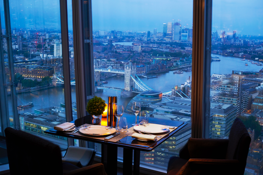14 Date Night Ideas for Valentine's Day in London: TING at Shangri-La at The Shard