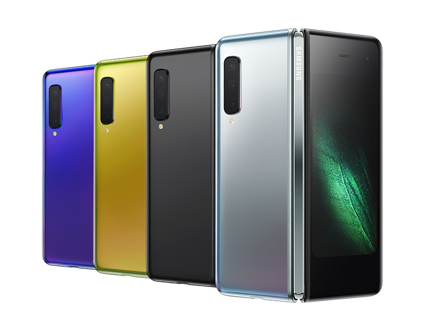 The Future of Smartphones – The Samsung Galaxy Fold available in Space Silver, Cosmos Black, Martian Green and Astro Blue