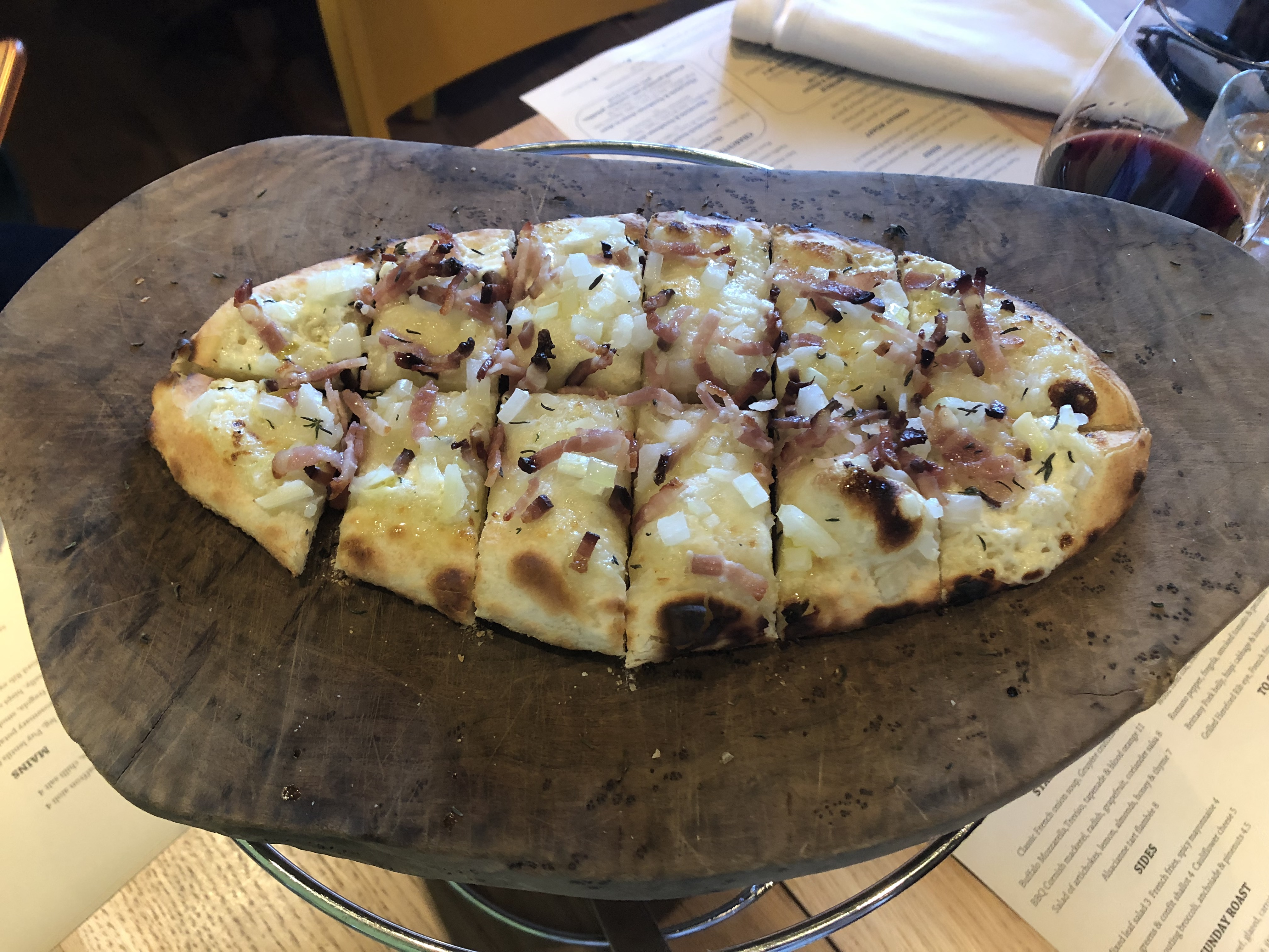 Galvin HOP - Is this the best Sunday Roast in London? Alascianne Tart Flambee