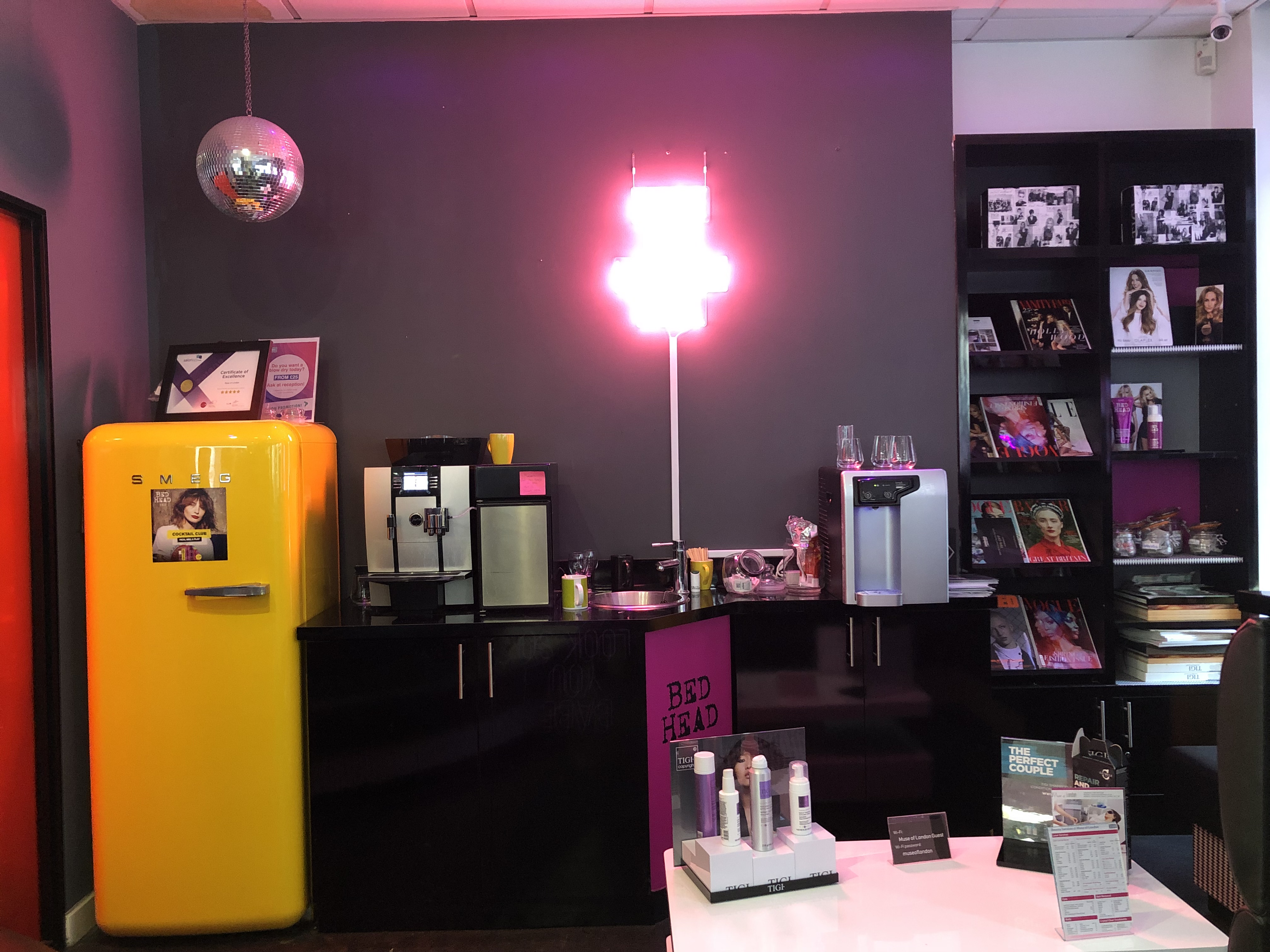 Muse of London - For the Ultimate Hair Transformation: Waiting Area