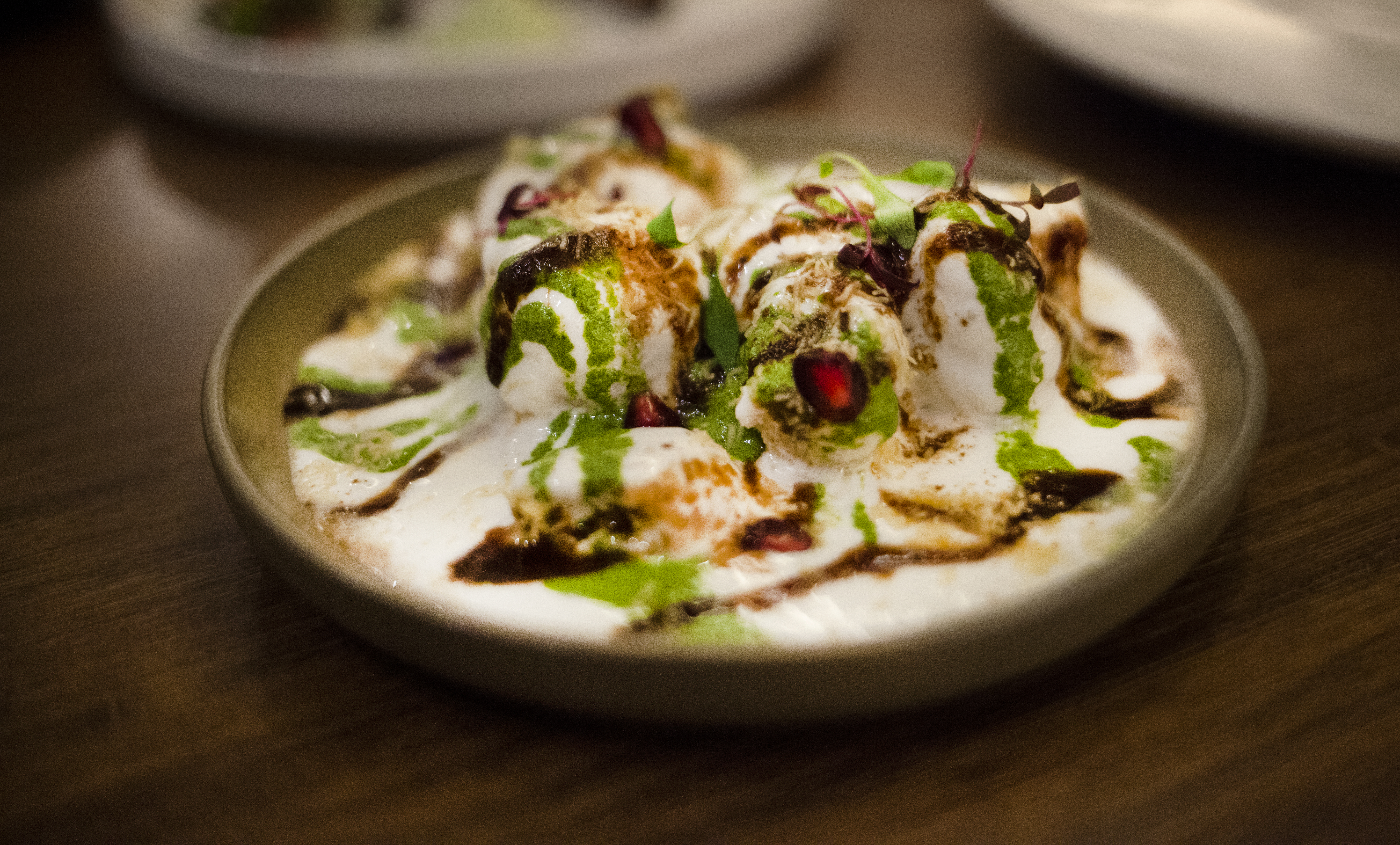 Fine Dining Indian Restaurant Kahani Hits the Spot in Chelsea: Spiced Chickpea with Sweetened Yoghurt
