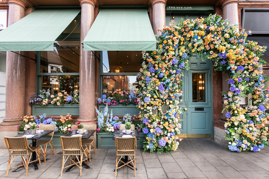 Where to Celebrate Wimbledon 2019 - Floral Installation at The Ivy Cafe, Wimbledon