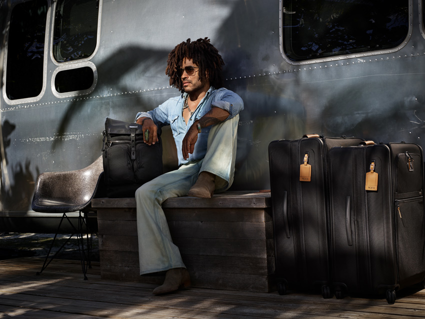 Summer Essentials - Don't Jet Off Without Them! Lenny Kravitz & The Alpha 3 TUMI Luggage Range