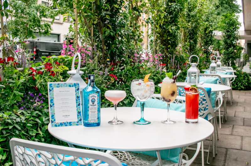 The Luxe List July 2019 Part Two - Berner's Terrace at Sanderson London with BOMBAY SAPPHIRE Limited Edition English Estate