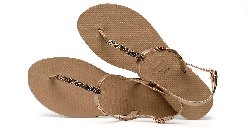 Summer Essentials - Don't Jet Off Without Them! Sparkly Havaianas You Riviera Crystal in Rose