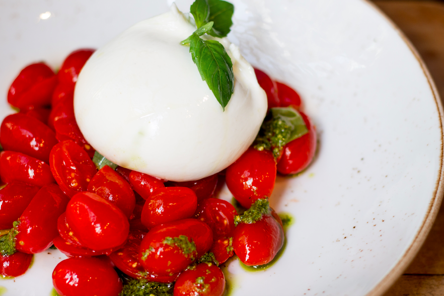 Bocconcino Restaurant - Italian Elegance in the Heart of Mayfair: Burrata with Cherry Tomatoes