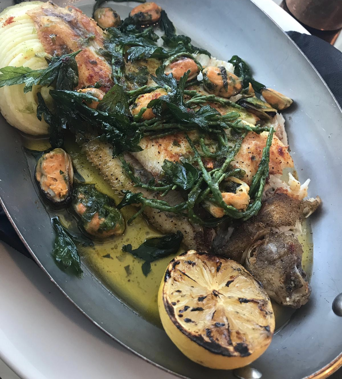Celebrate the British Summer at Hilton Bournemouth: Lemon Sole Main Dish at Schpoons & Forx