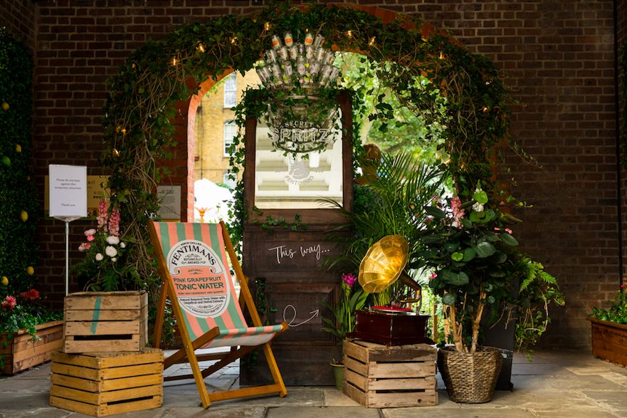 10 Outdoor Terraces in London For The Sizzling Bank Holiday Weekend: Fentiman's Secret Spritz Garden