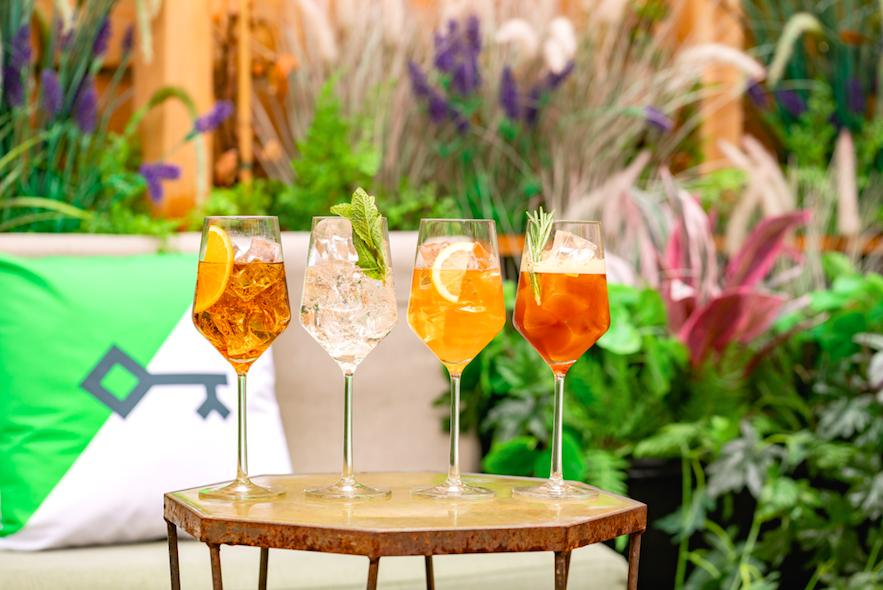 10 Outdoor Terraces in London For The Sizzling Bank Holiday Weekend: The Sekforde Spritz Garden at Heads & Tails, West Hampstead