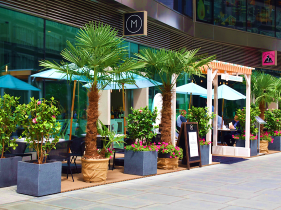 10 Outdoor Terraces in London For The Sizzling Bank Holiday Weekend: California Terrace at M Victoria
