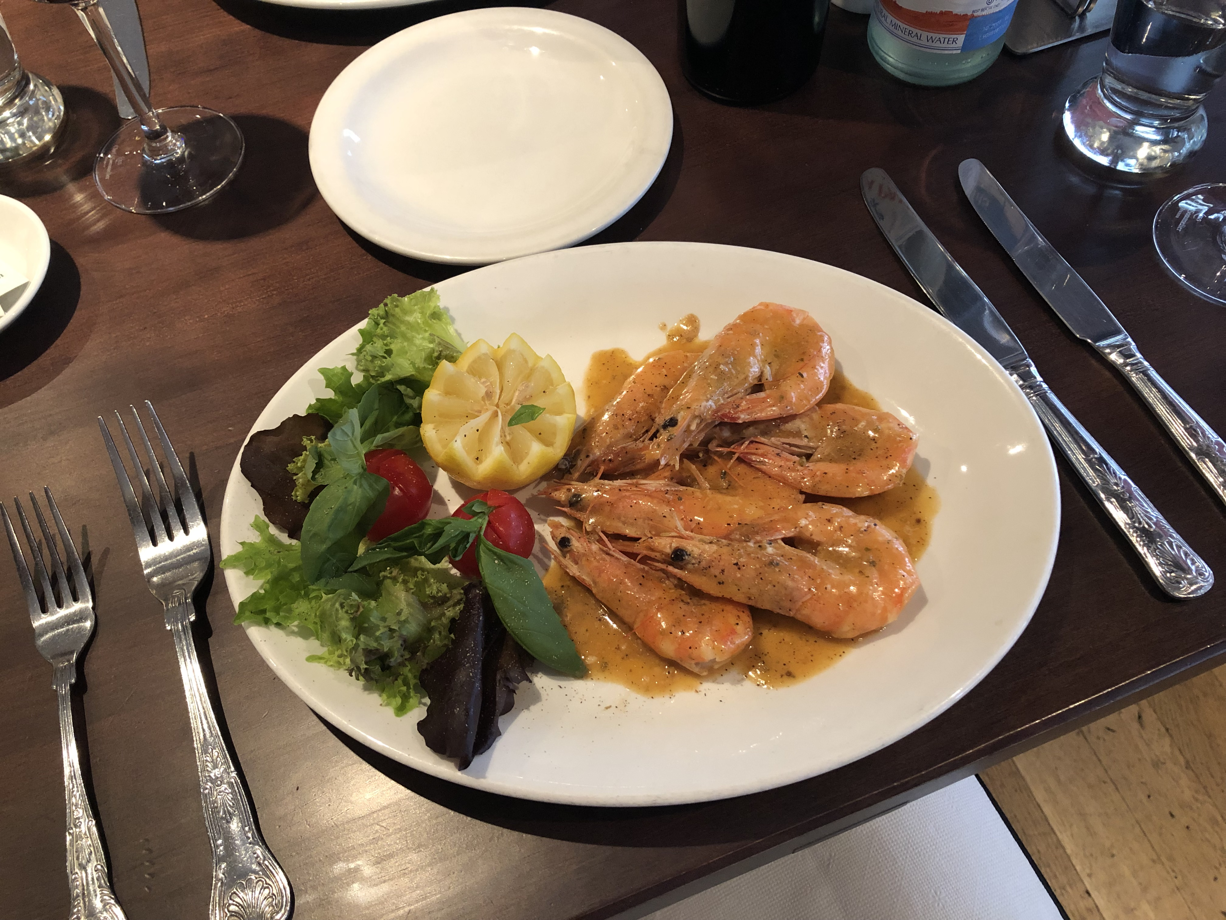 Melanie's Soho - For a Traditional Italian Experience: Starter - Gamberoni Prawns