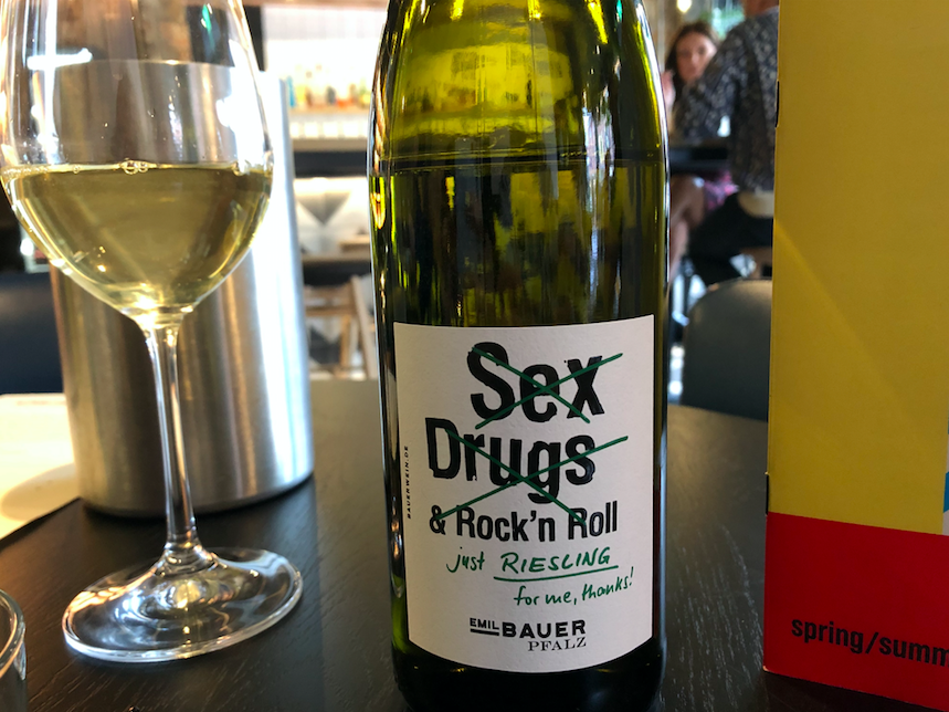 Sharer Plate Heaven at Wolf at the Door, Manchester: Sex, Drugs & Rock n Roll Riesling