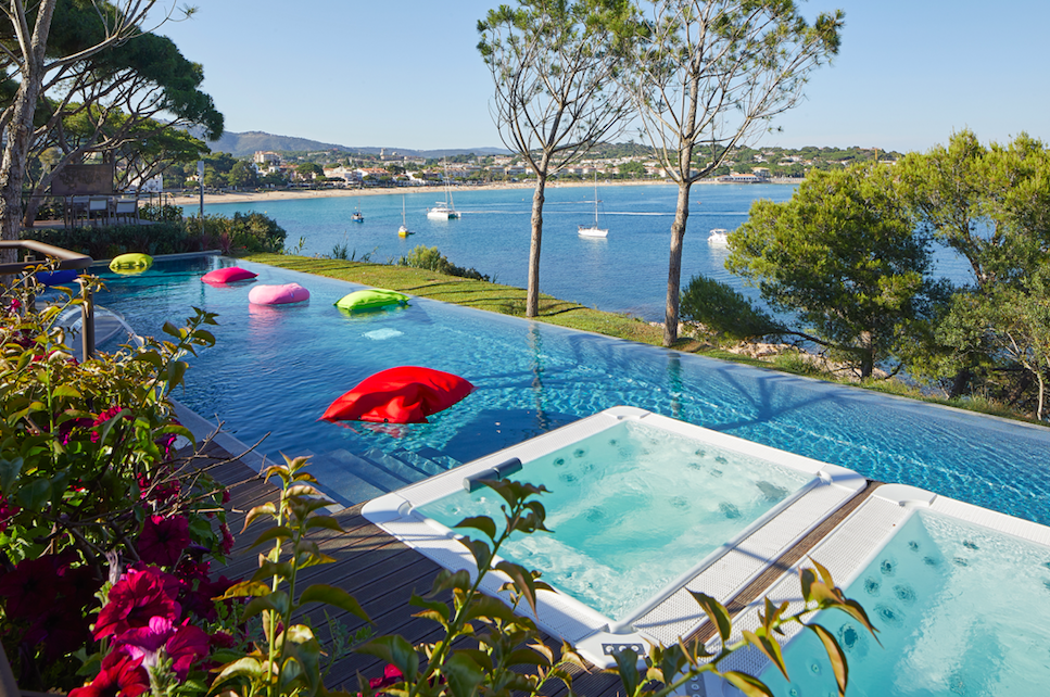 A Glamorous Getaway at The Alàbriga Hotel & Home Suites, Costa Brava: Sea Cub Pool with Stunning Views Across Sant Pol Bay