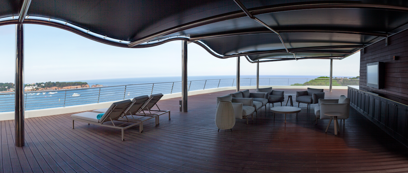 A Glamorous Getaway at The Alàbriga Hotel & Home Suites, Costa Brava: The Gigantic Terrace in the Presidential Suite
