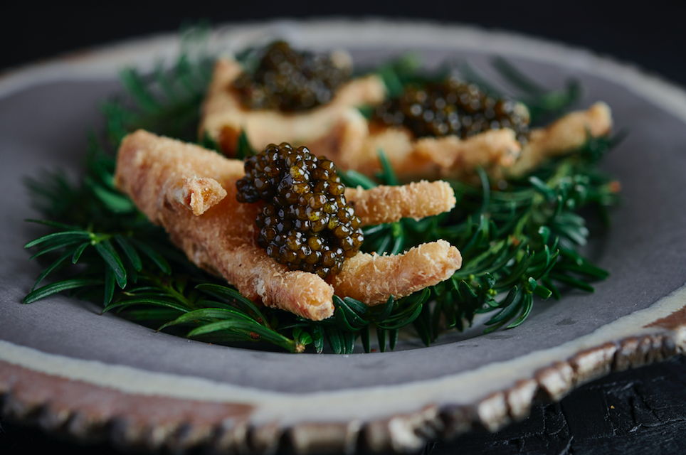 The Luxe List: 9 New Openings For November 2019 - Crispy Fried Chicken Feet at Adam Handling's New Sustainable Restaurant Ugly Butterfly, King's Road (Photo Credit: Tim Green)