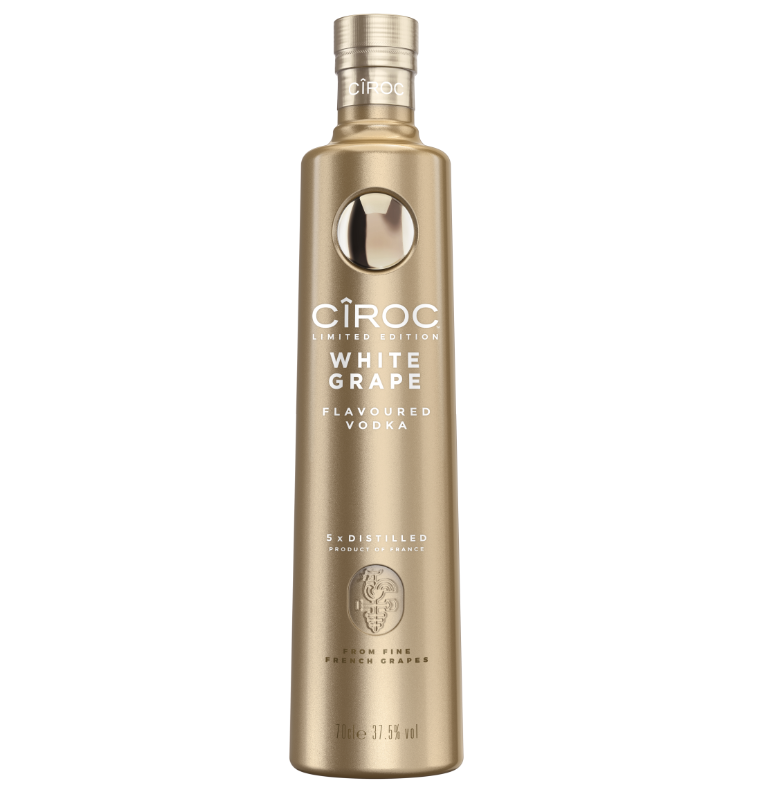 There's a New CÎROC on the Block! CÎROC White Grape Vodka with a stunning gold bottle