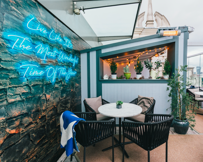 The Luxe List of Christmas Pop-Ups & Terraces 2019 - Radio Rooftop's Alpine inspired hideaways with Grey Goose Vodka