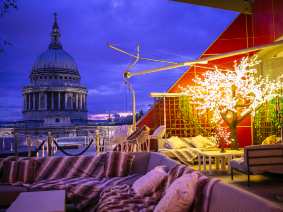 The Luxe List of Christmas Pop-Ups & Terraces 2019 - The Enchanted Woods Terrace at Madison London
