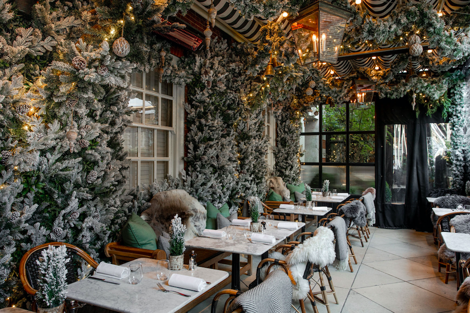 The Luxe List of Christmas Pop-Ups & Terraces 2019 - Transporting you to Gstaad with Dalloway Terrace