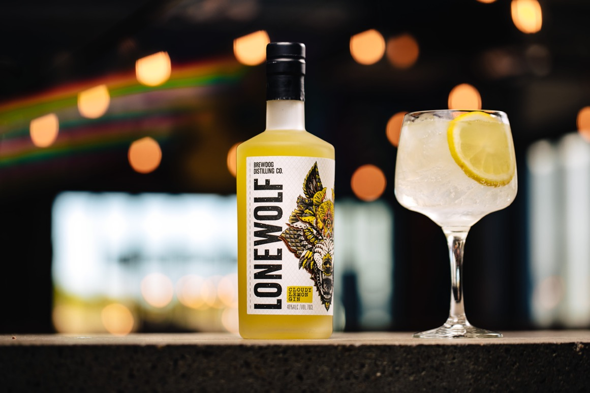 Forget Dry Jan! Here's Luxebible's Hottest Drinks Trends for 2020: Lonewolf Cloudy Lemon Gin from BrewDog Distilling Co. £26