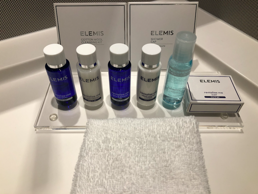 A Seriously Stylish Stay at the Award Winning RHG's Park Plaza London Waterloo: Complimentary Elemis products - you can tell when a hotel is serious about its guests!