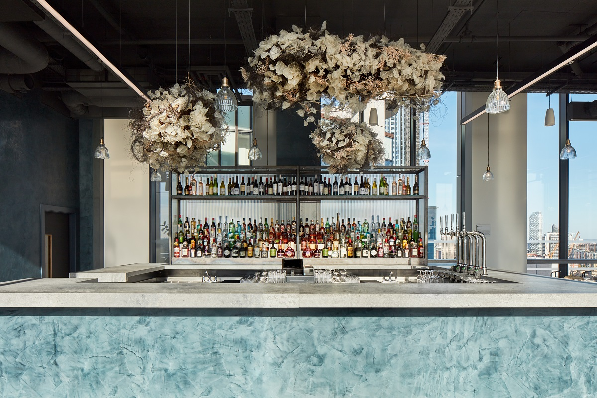 Mthr - Globally Inspired Dishes From London's Newest Skyline Restaurant: Bar Area