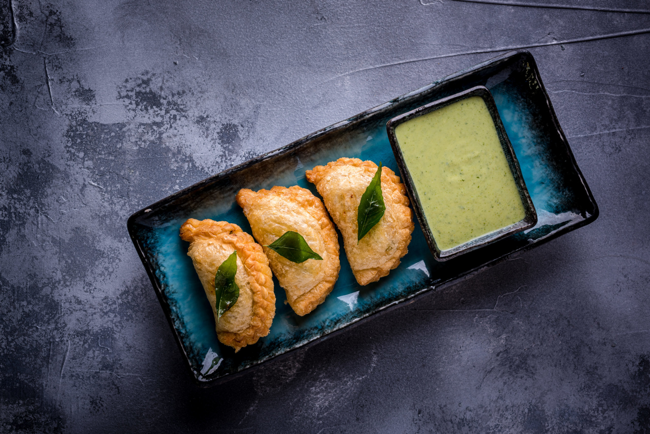 Award Winning Authentic SE Asian Cuisine at Sticky Mango: Chicken Curry Puffs Starter
