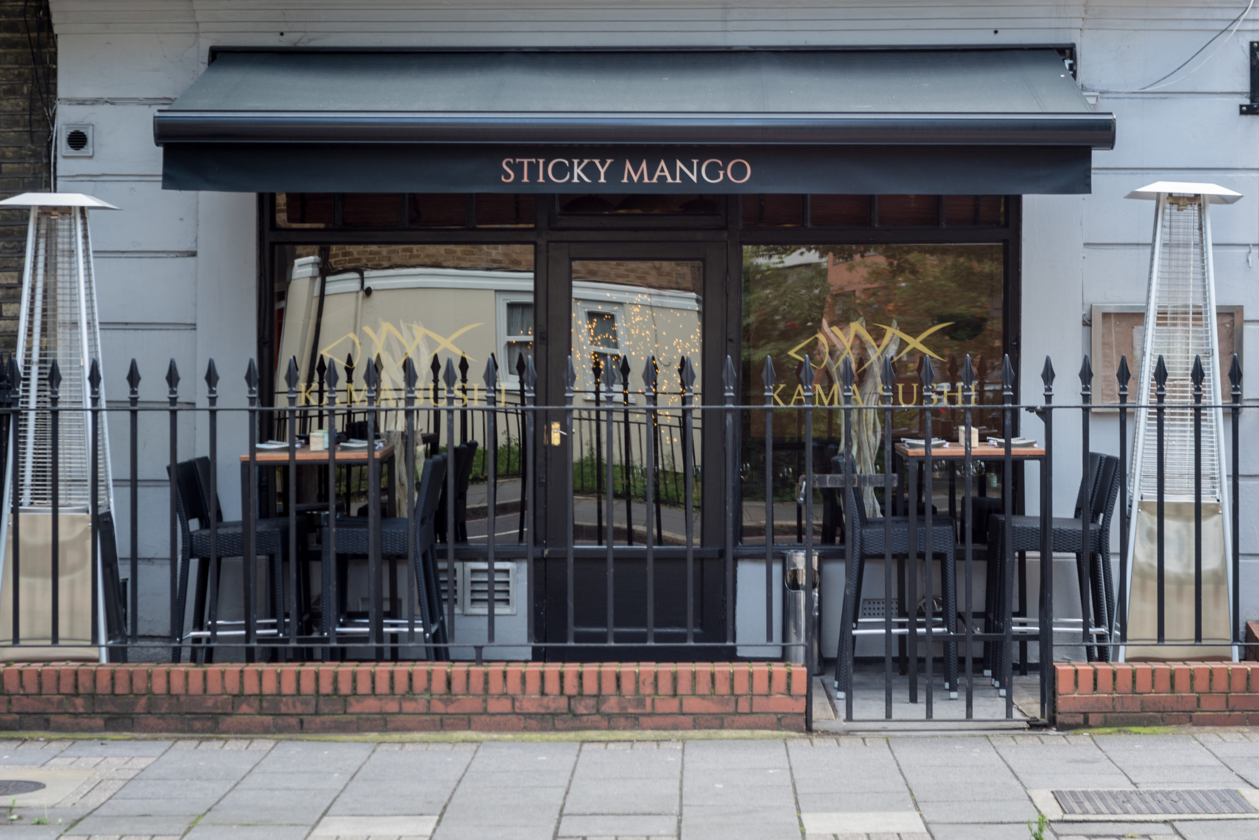 Award Winning Authentic SE Asian Cuisine at Sticky Mango: Exterior & Terrace