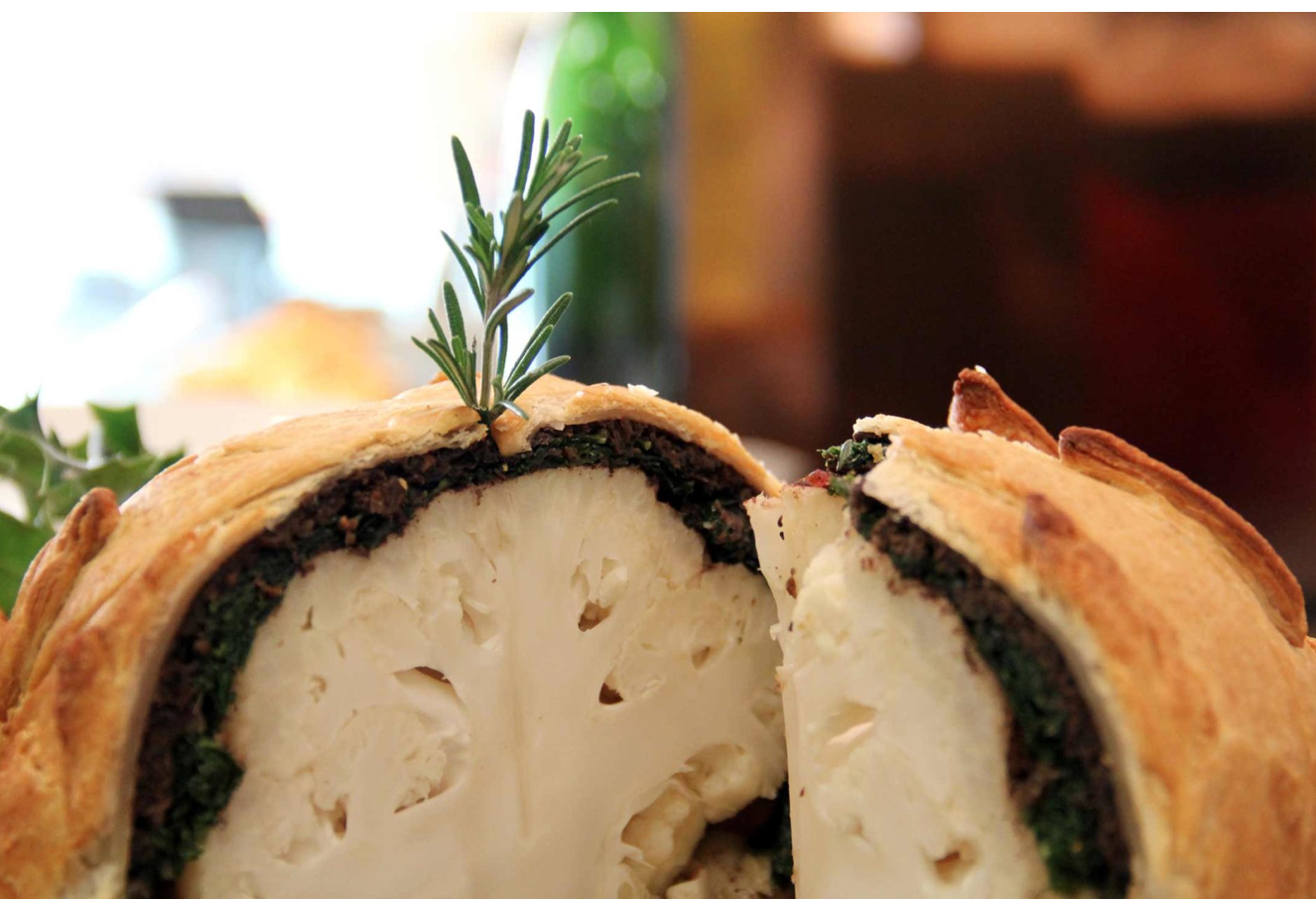 A Luxury Stay (At Home) With Tips From The Grove Hotel: Vegan Cauliflower Wellington