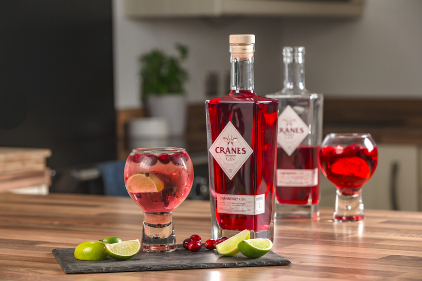 The Coolest Gins of 2020: Cranes Cranberry Gin