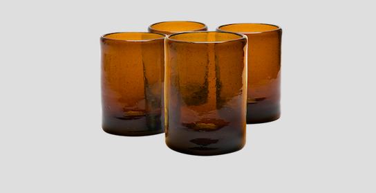 Make Your Work From Home Space Beautiful With Kalinko: Zomi Highballs in Amber (£48)
