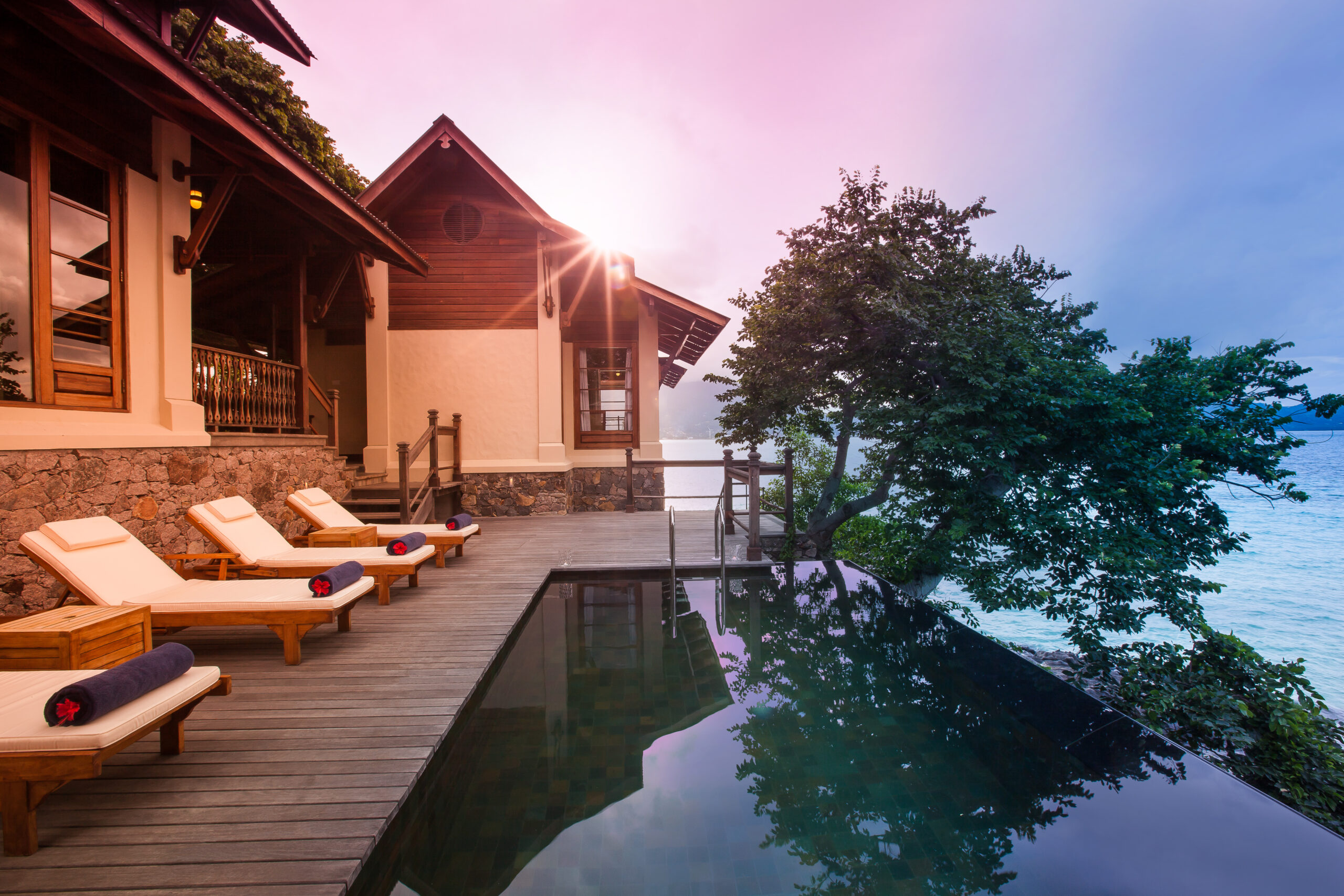 Rent Your Own Private Island From Just £368 Per Person! (And it's Officially COVID-19 Free) JA Enchanted Island Resort, Seychelles - Pool Deck, Villa Flanbwayan