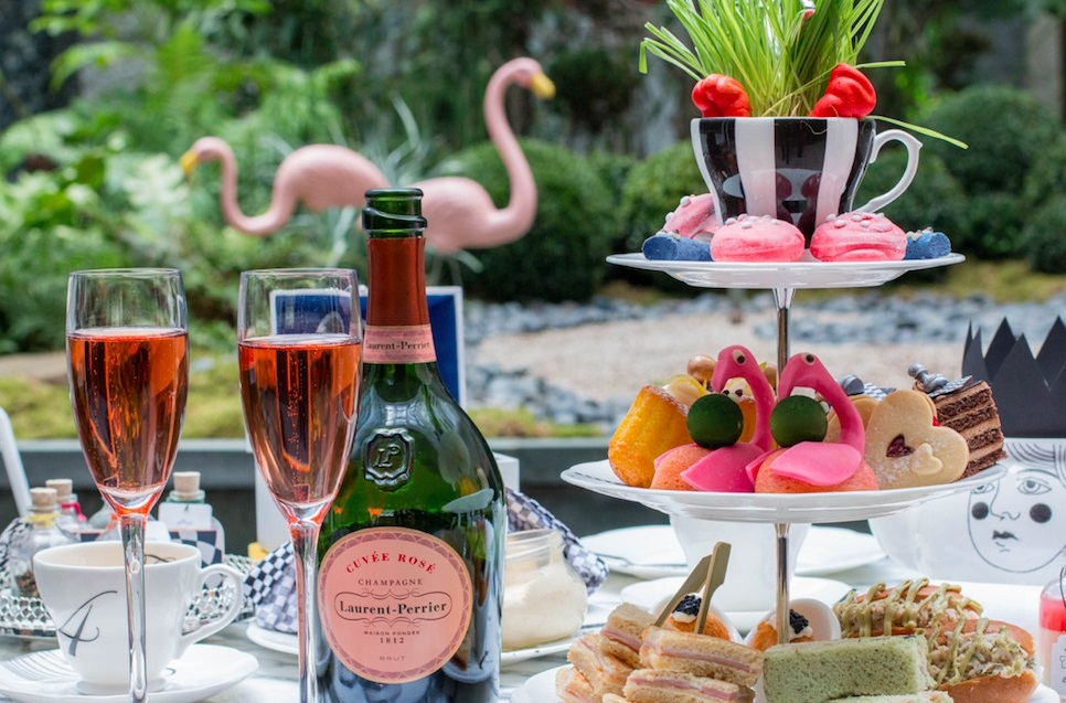 The Luxe List July 2018: Laurent-Perrier Cuvée Rosé Mad Hatters Afternoon Tea at Sanderson London