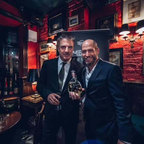 Boisdale Belgravia hosts Chris Noth and his Ambhar Tequila in a private VIP tasting last night in advance of its Spring 2019 launch in the UK