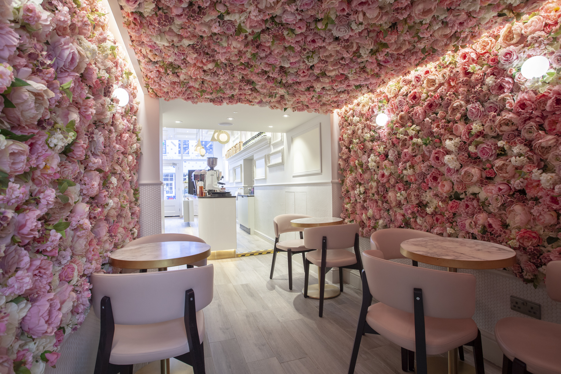 Celebrate RHS Chelsea Flower Show in Style at These London Bars and Restaurants: Flower Room at Maitre Choux Chelsea on the King's Road