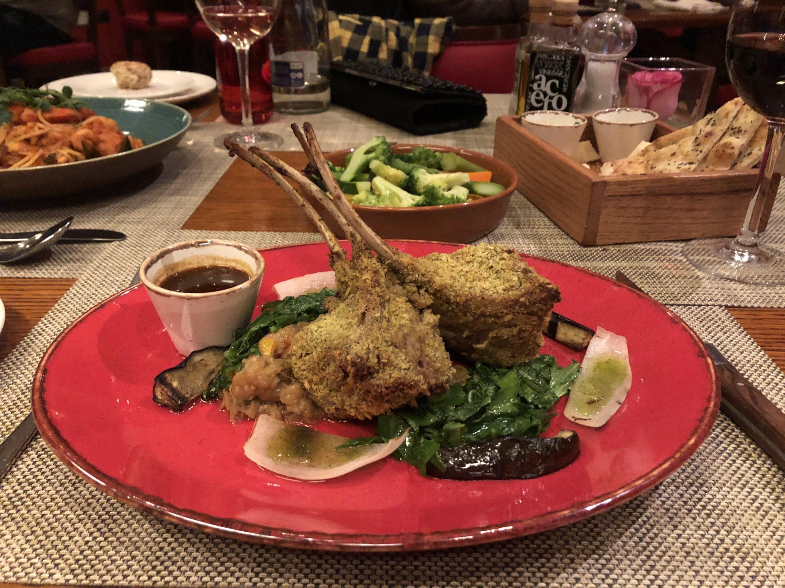 Five Star Luxury - The Amwaj Rotana JBR, Dubai: Rosso Restaurant - Lamb rack with pistachios