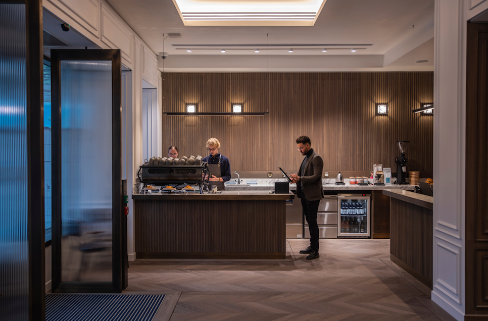 Page8 Hotel - A New London Hotel for Luxury Loving Wanderlusters: Lobby & Page Common Artistanal Coffee Shop