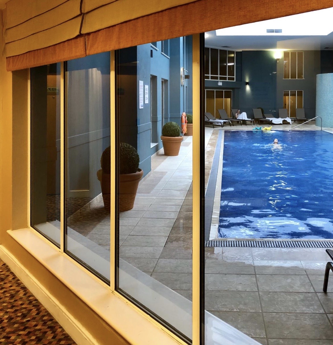 The Norton Park Hotel & Spa - A Perfect Family Getaway: Pool area with relaxing loungers