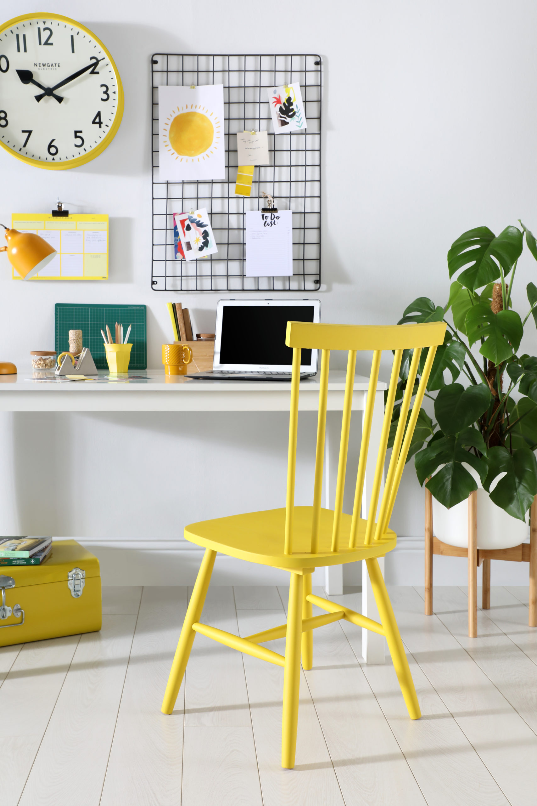 How To Create The Perfect Home Office: Use Bright Colours