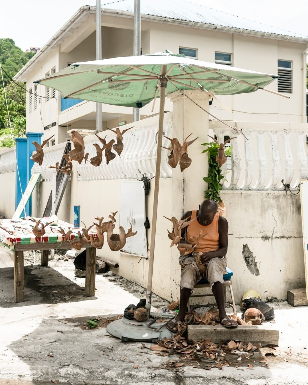 'Seven Minutes in Saint Lucia' Virtual Series Takes You There During Lockdown! Wood Sculpting