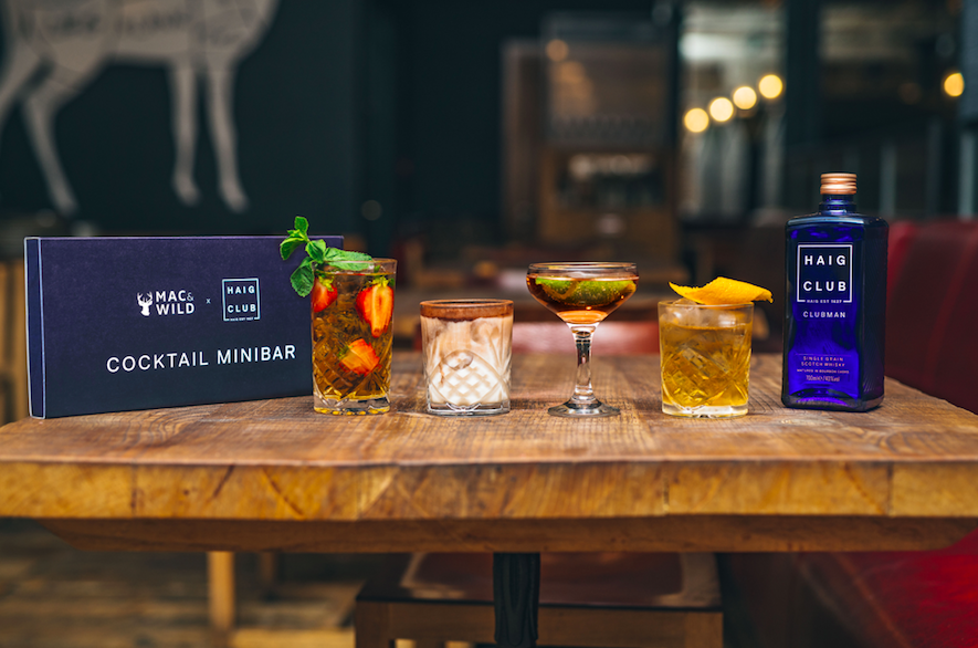 The Luxe List July 2020 - Haig Club and Mac & Wild's Home Cocktail Minibar (Photo Credit @lateef.photography)