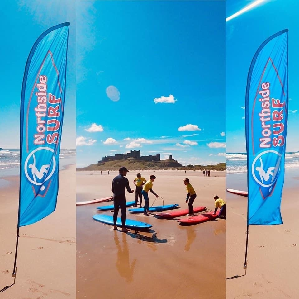 Learn to Surf in Northumberland with Northside Surf School - Learn to Surf in stunning Bamburgh