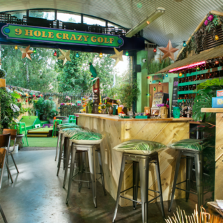 The Luxe List August 2020: Part Two - Plonk Golf at London Fields image of bar