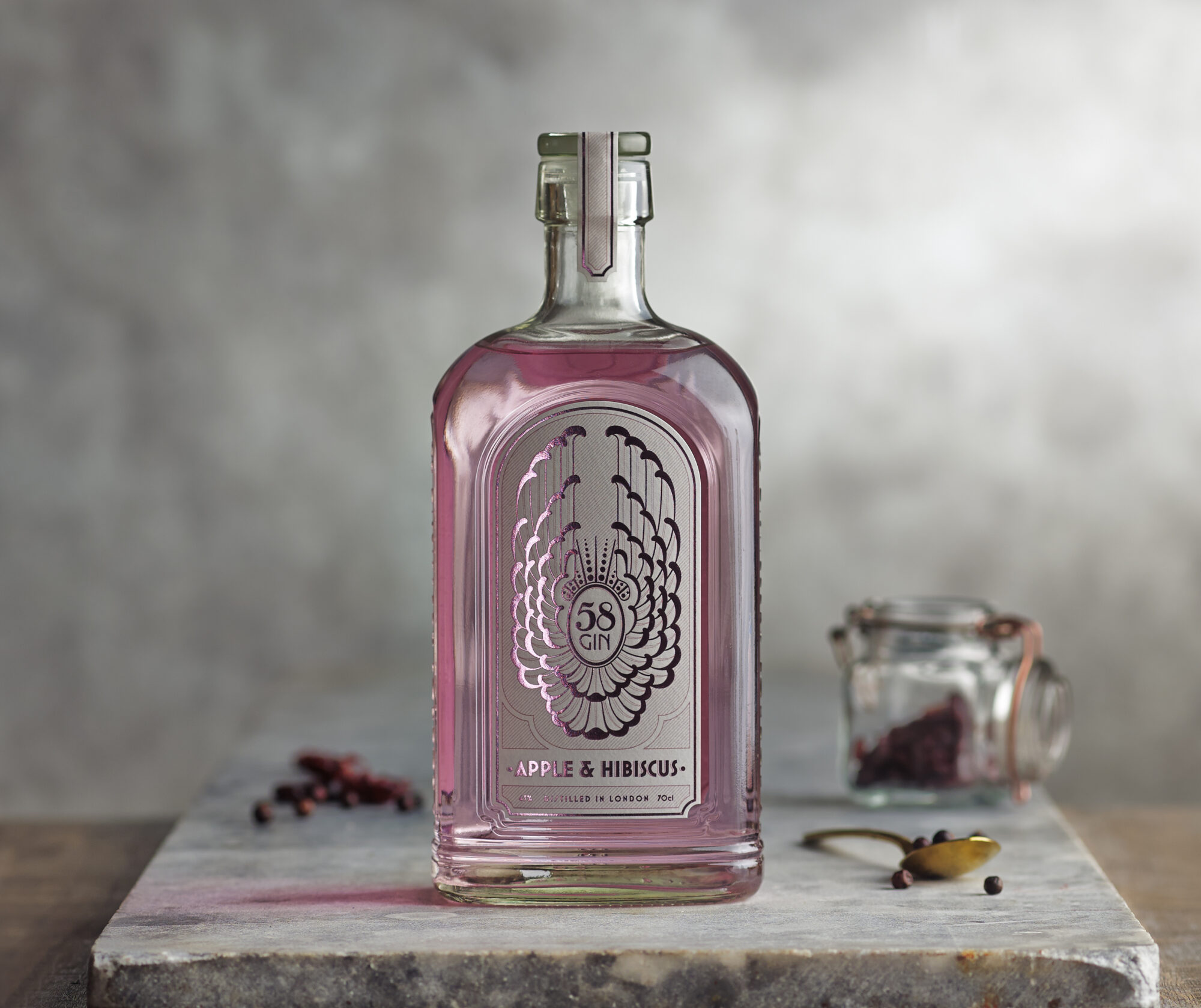 The Coolest Gins of 2020: 58 Gin - Apple and Hibiscus