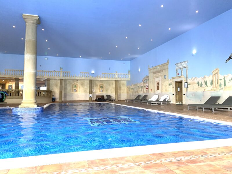The huge Italian inspired pool areas with jacuzzis, steam rooms and loungers was a great place to unwind at Whittlebury Park