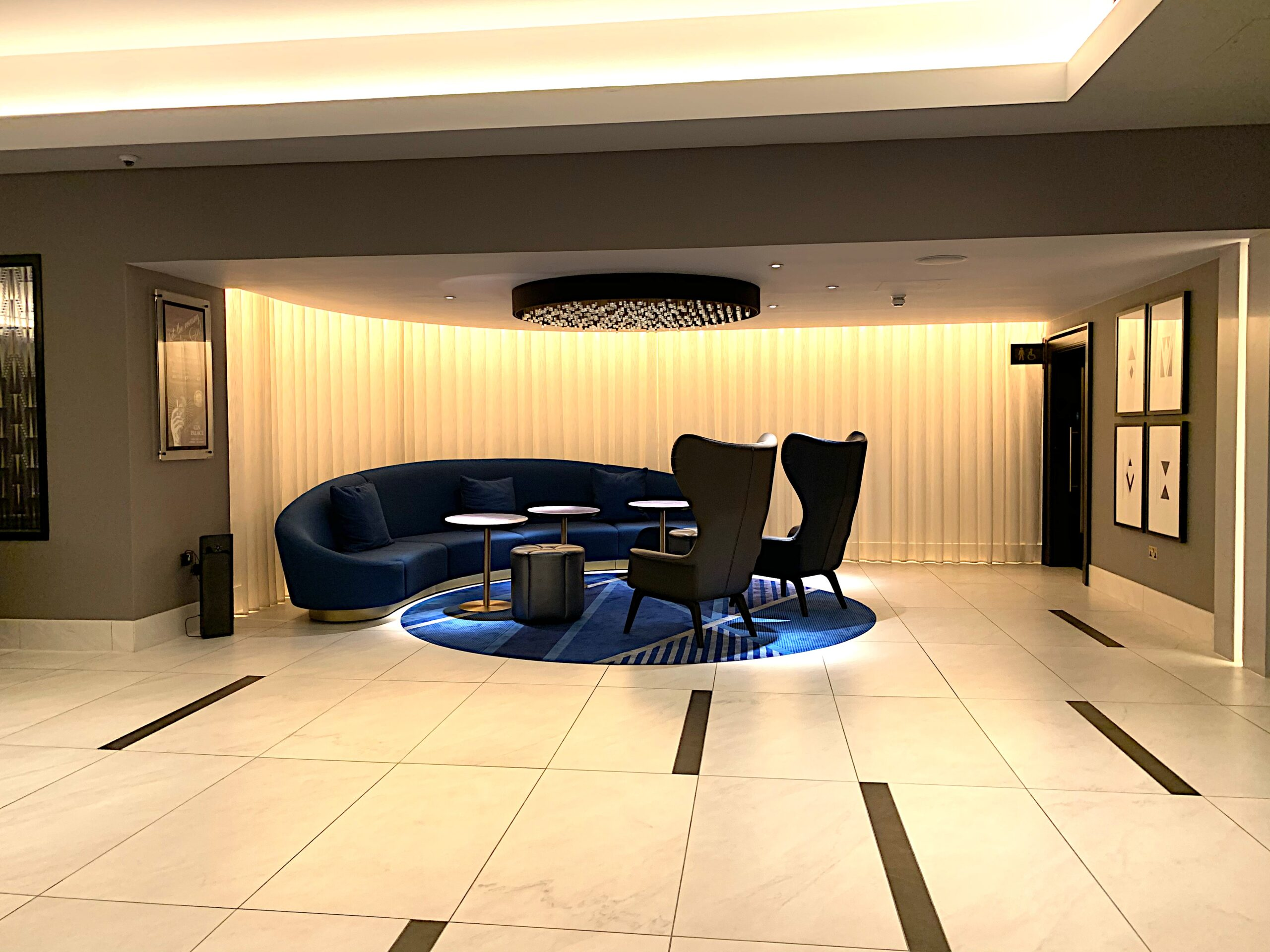 The lobby at Strand Palace Hotel offers plenty of spacious areas in which to relax